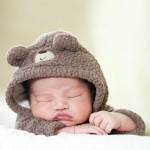 sleepy bear | newborn baby photography