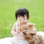 los angeles baby and puppy portraits | ashlynn