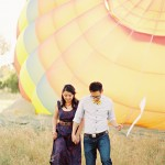 hot air balloon engagement photography