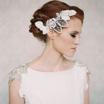 carol hannah wedding gown + twigs and honey hair adornments