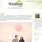 tim + tina featured on Green Wedding Shoes!