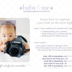 baby & me | photography workshops for parents