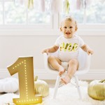 first birthday & cake smash baby photography