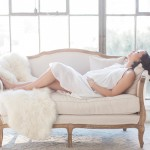 romantic studio maternity photography